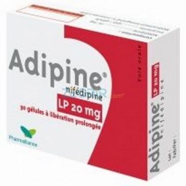 Adipine Nifédipine 20 mg